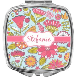 Wild Flowers Compact Makeup Mirror (Personalized)
