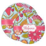 Wild Flowers Melamine Plate (Personalized)