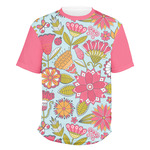 Wild Flowers Men's Crew T-Shirt (Personalized)