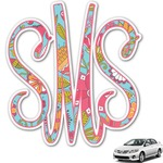 Wild Flowers Monogram Car Decal (Personalized)