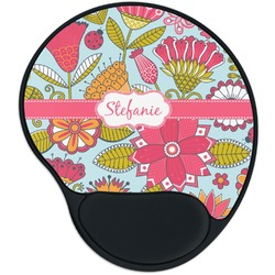 Wild Flowers Mouse Pad with Wrist Support