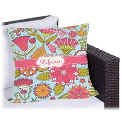 "Wild Flowers Outdoor Pillow - 20"" (Personalized)"