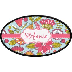 Wild Flowers Oval Trailer Hitch Cover (Personalized)