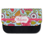 Wild Flowers Canvas Pencil Case w/ Name or Text