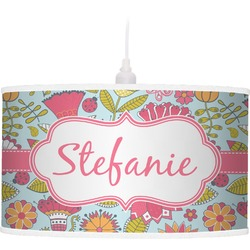 Wild Flowers Pendant Lamp (Personalized)