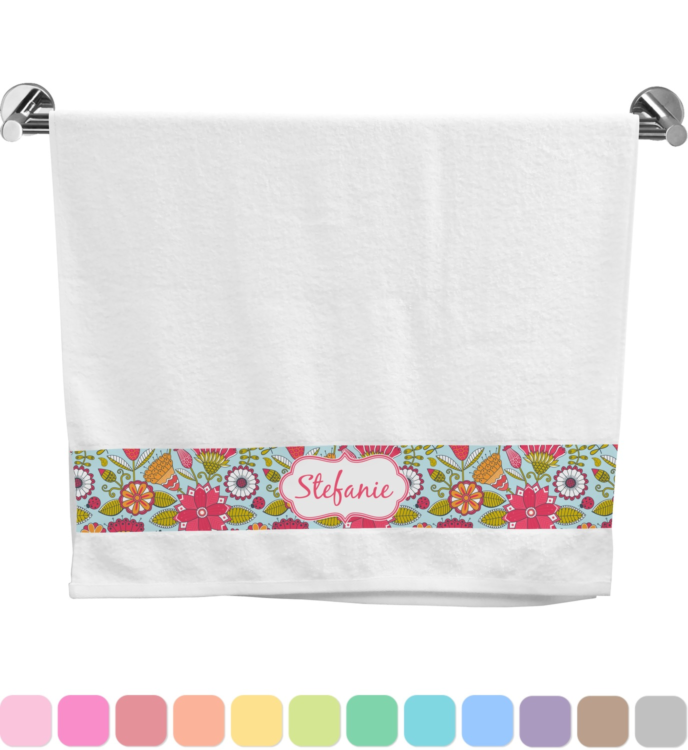 Wild Flowers Bath Towel (Personalized)