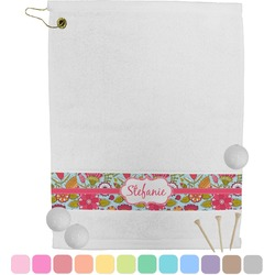 Wild Flowers Golf Towel (Personalized)