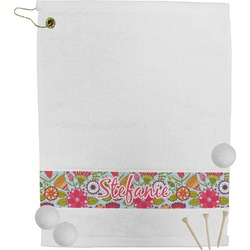 Wild Flowers Golf Towel (Personalized)
