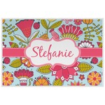 Wild Flowers Laminated Placemat w/ Name or Text