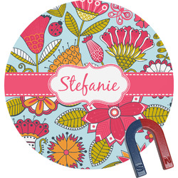 Wild Flowers Round Magnet (Personalized)