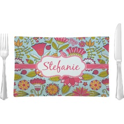 Wild Flowers Rectangular Dinner Plate (Personalized)
