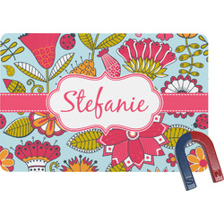 Wild Flowers Rectangular Fridge Magnet (Personalized)