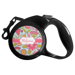 Wild Flowers Retractable Dog Leash - Multiple Sizes (Personalized)