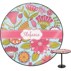 "Wild Flowers Round Table - 30"" (Personalized)"