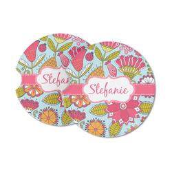 Wild Flowers Sandstone Car Coasters (Personalized)