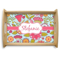 Wild Flowers Natural Wooden Tray (Personalized)