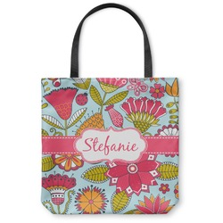 Wild Flowers Canvas Tote Bag (Personalized)