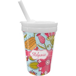 Wild Flowers Sippy Cup with Straw (Personalized)