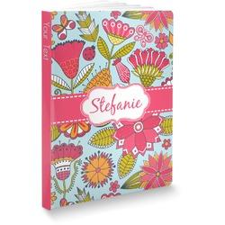 "Wild Flowers Softbound Notebook - 7.25"" x 10"" (Personalized)"