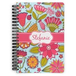 Wild Flowers Spiral Bound Notebook (Personalized)