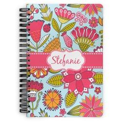 Wild Flowers Spiral Bound Notebook (Personalized)