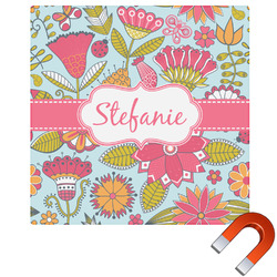 Wild Flowers Square Car Magnet (Personalized)