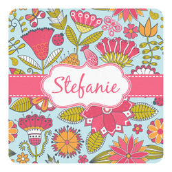 Wild Flowers Square Decal - Custom Size (Personalized)