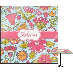 Wild Flowers Square Table Top (Personalized)