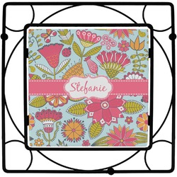 Wild Flowers Square Trivet (Personalized)