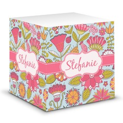 Wild Flowers Sticky Note Cube (Personalized)