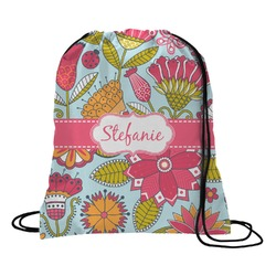 Wild Flowers Drawstring Backpack (Personalized)