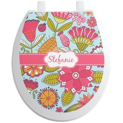 Wild Flowers Toilet Seat Decal (Personalized)
