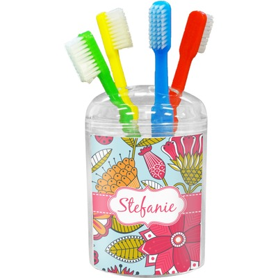 Wild Flowers Toothbrush Holder (Personalized)