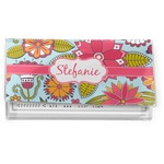 Wild Flowers Vinyl Checkbook Cover (Personalized)
