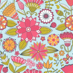 """Wild Flowers Wallpaper & Surface Covering (Peel & Stick 24""""x 24"""" Sample)"""