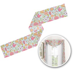 Wild Flowers Window Sheer Scarf Valance (Personalized)
