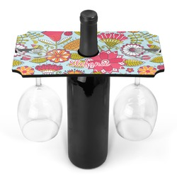 Wild Flowers Wine Bottle & Glass Holder (Personalized)