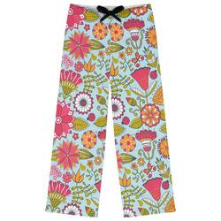 Wild Flowers Womens Pajama Pants (Personalized)