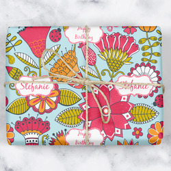 Wild Flowers Wrapping Paper (Personalized)
