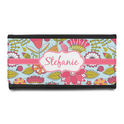 Wild Flowers Leatherette Ladies Wallet (Personalized)