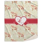 Mouse Love Sherpa Throw Blanket (Personalized)