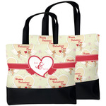 Mouse Love Beach Tote Bag (Personalized)