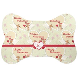 Mouse Love Bone Shaped Dog Food Mat (Personalized)