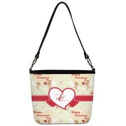Mouse Love Bucket Bag w/ Genuine Leather Trim (Personalized)