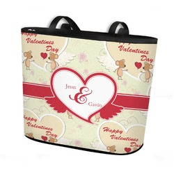 Mouse Love Bucket Tote w/ Genuine Leather Trim (Personalized)
