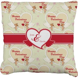 Mouse Love Faux-Linen Throw Pillow (Personalized)