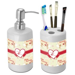 Mouse Love Bathroom Accessories Set (Ceramic) (Personalized)