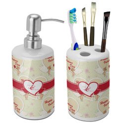 Mouse Love Ceramic Bathroom Accessories Set (Personalized)
