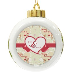 Mouse Love Ceramic Ball Ornament (Personalized)