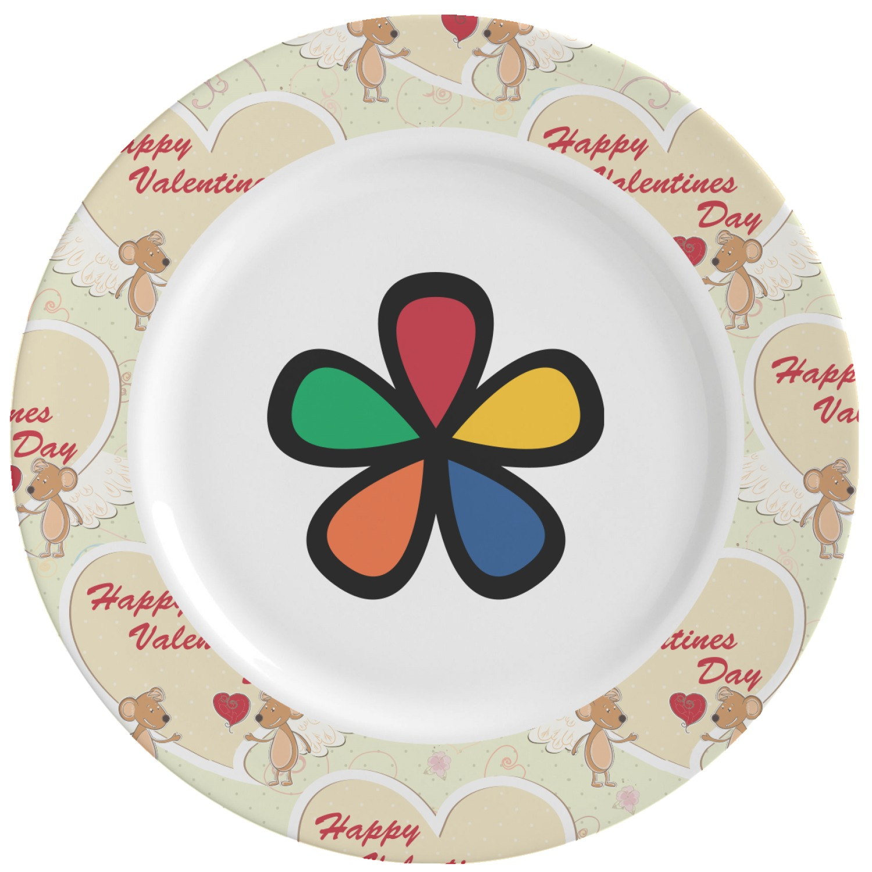 mouse love ceramic dinner plates set of 4 personalized. Black Bedroom Furniture Sets. Home Design Ideas